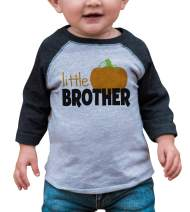 7 ate 9 Apparel Youth Little Brother Halloween Shirt