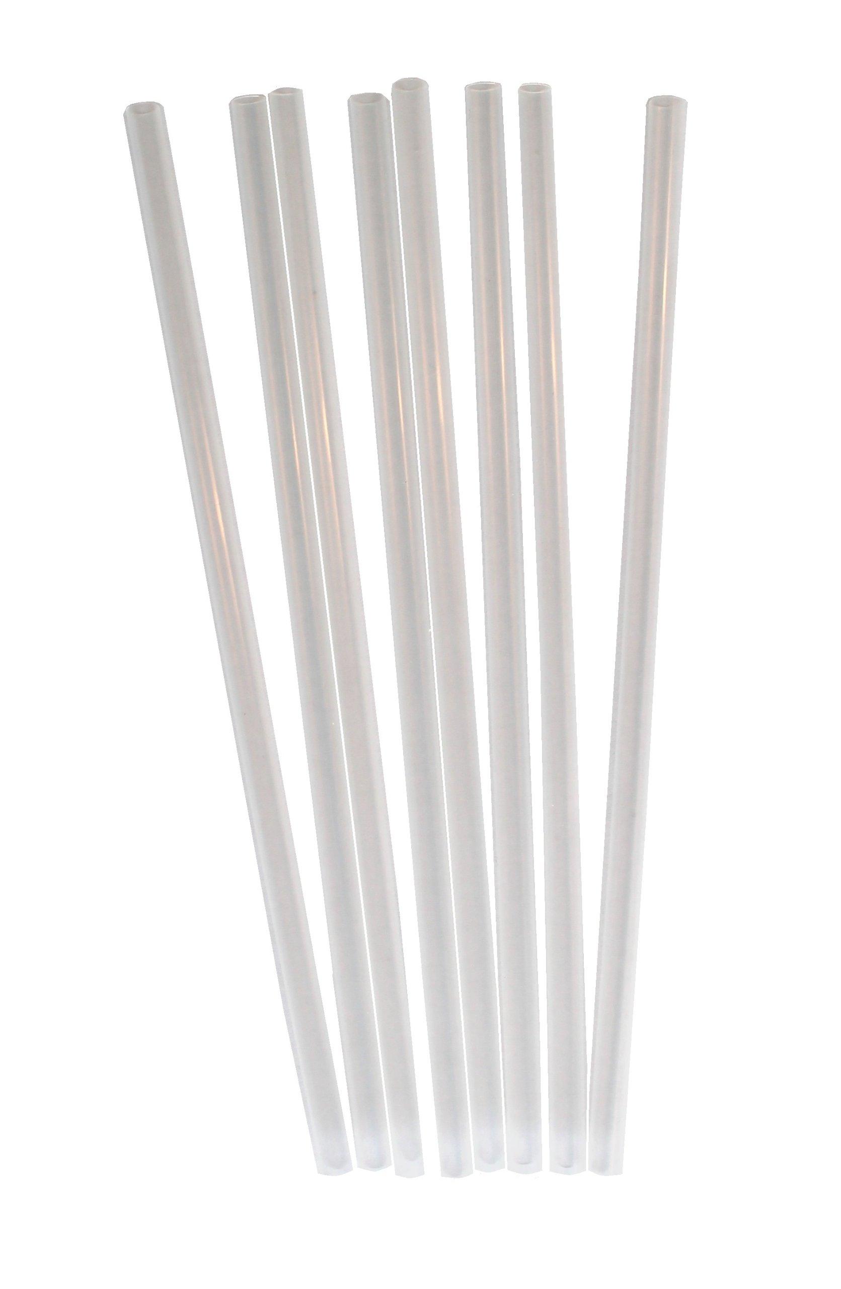 "Daxwell Plastic Straws, Clear, Wrapped, 7.75"" x 6 mm, C10001570B (Box of 500)"