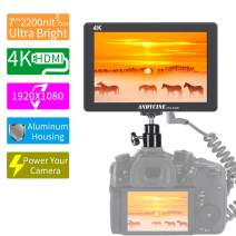 ANDCYINE X7 7Inch Ultra Brightness Camera Video Monitor CNC Aluminum Housing 1920x1080 Camera Filed Monitor Accept 4K HDMI Input/Output Camera Field Monitor for Sony,Canon,Panasonic,Fuji DSLR