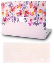 """KECC Laptop Case for MacBook Pro 13"""" (2019/2018/2017/2016) w/Keyboard Cover Plastic Hard Shell A1989/A1706/A1708 Touch Bar (Flower 2)"""