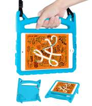 iPad Mini 4 5 Case for Kids, DTTO Shockproof Kids-Friendly Silicone Cover with Hanging Strap&Handle&Foldable Kickstand for iPad Mini 4 2015/iPad Mini 5th Generation 2019-Blue