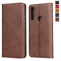 Huawei P Smart Z Wallet Case,Jaorty Premium PU Leather Flip Folio Case with Card Slot,Stand Holder Magnetic Closure TPU Shockproof Interior Protective Case for Huawei P Smart Z/Y9 Prime 2019,Brown
