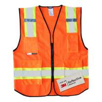 Salzmann 3M Multi-Pocket Safety Mesh Vest | High Visibility Reflective Mesh Vest | Made with 3M Reflective Material | Meets ANSI/ISEA107