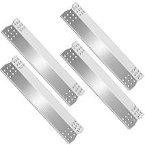 Grill Parts Heat Shield Plate Stainless Steel Gas BBQ Parts Replacement for Master Forge 1010048 Grill Replecement Parts, Burner Cover Flame Tamer, 15 1/8 inch x 3 1/4 inch, Stainless Steel, Set of 4