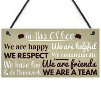"""Meijiafei Funny Office Gift for Colleague Hanging Wall Plaque Door Sign Colleagues Friendship Friend 10"""" X 5"""""""