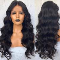 FENJUN HAIR Brazilian Virgin Full Lace Human Hair Wigs Pre plucked With Baby Hair 18 Inch Body Wave Wigs For Black Women 150% Density Wet and Wavy Hair Full Lace Wig