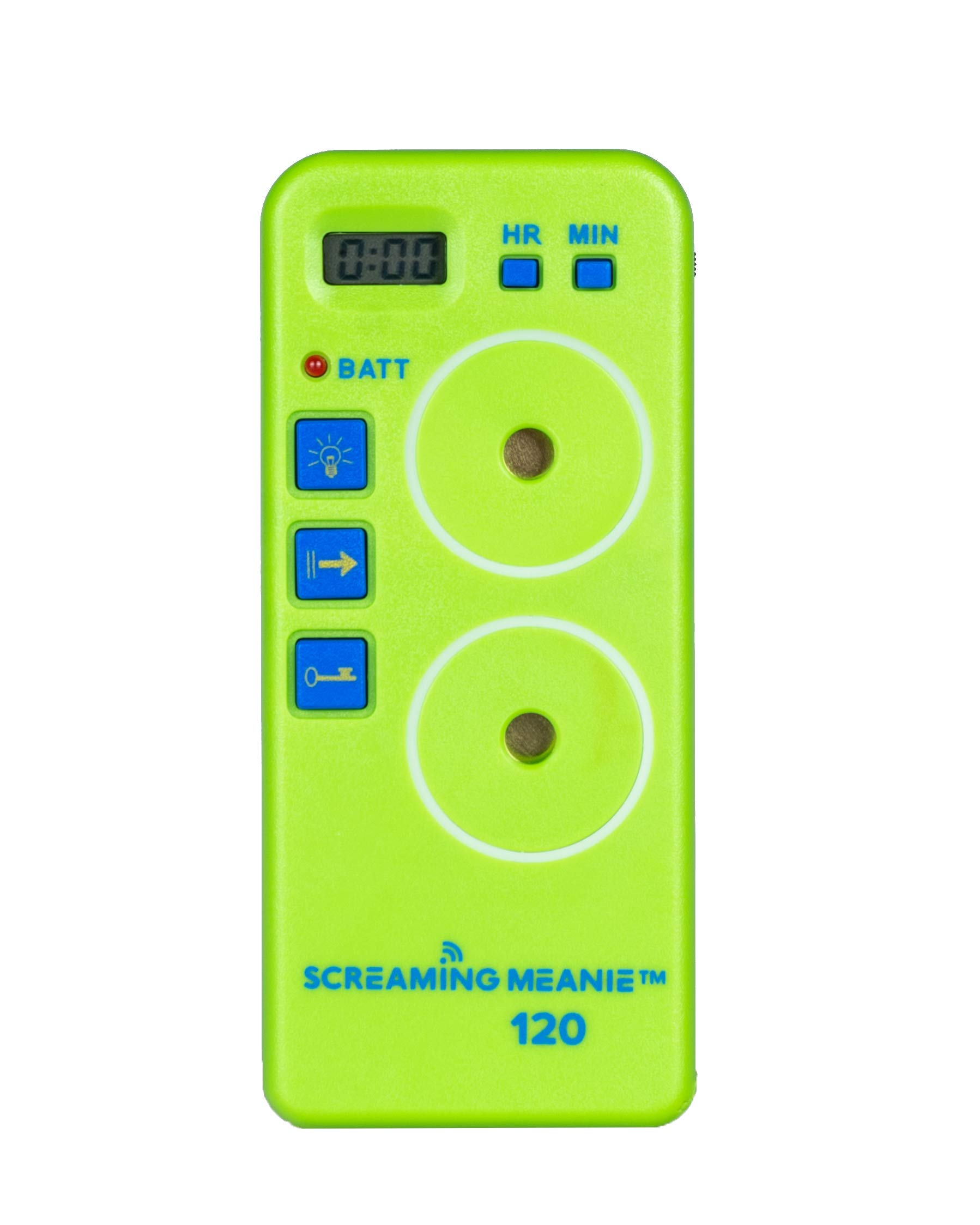 Screaming Meanie TZ-120 Alarm Timer - Extremely Loud - Travel Friendly - Multi-Purpose - 2 Sound Levels - Battery Included - Lime Green