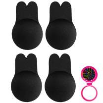 Nippleless Covers,Adhesive Push up Bras,Breast Lift Tape, Silicone Breast Lift Pasties Black
