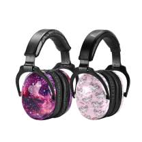 ZOHAN Kids Ear Protection 2 Pack, Hearing Protection Safety Ear Muffs for Children Have Sensory Issues, Adjustable Noise Reduction Earmuffs for Concerts, Fireworks, Air Shows (Nebula&Unicorn)