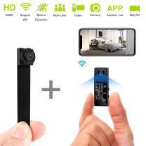 Mini Spy Camera WiFi Hidden Cameras HD 1080P Portable Wireless Small IP Camera Nanny Cam with Interchangeable Lens/Motion Detection for Home Office(Upgraded APP)
