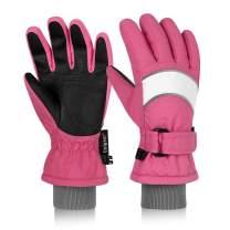 Unigear Kids Ski Gloves, Waterproof Winter Cold Weather Snowboard Snow Gloves, Fit Both Boys & Girls