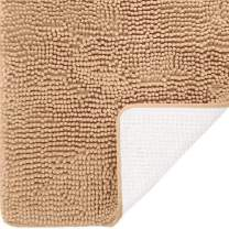 DEARTOWN Non-Slip Shaggy Bathroom Rug(31x59 Inches,Marzipan),Soft Microfibers Chenille Bath Mat with Water Absorbent, Machine Washable
