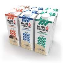 Hope & Sesame Organic Sesame Milk (Variety, 6-pack): USDA Organic Vegan Non Dairy Milk | Non-GMO, Gluten-Free | Emergency Shelf Stable Pantry Supply | Recyclable BPA-free 1L Boxes