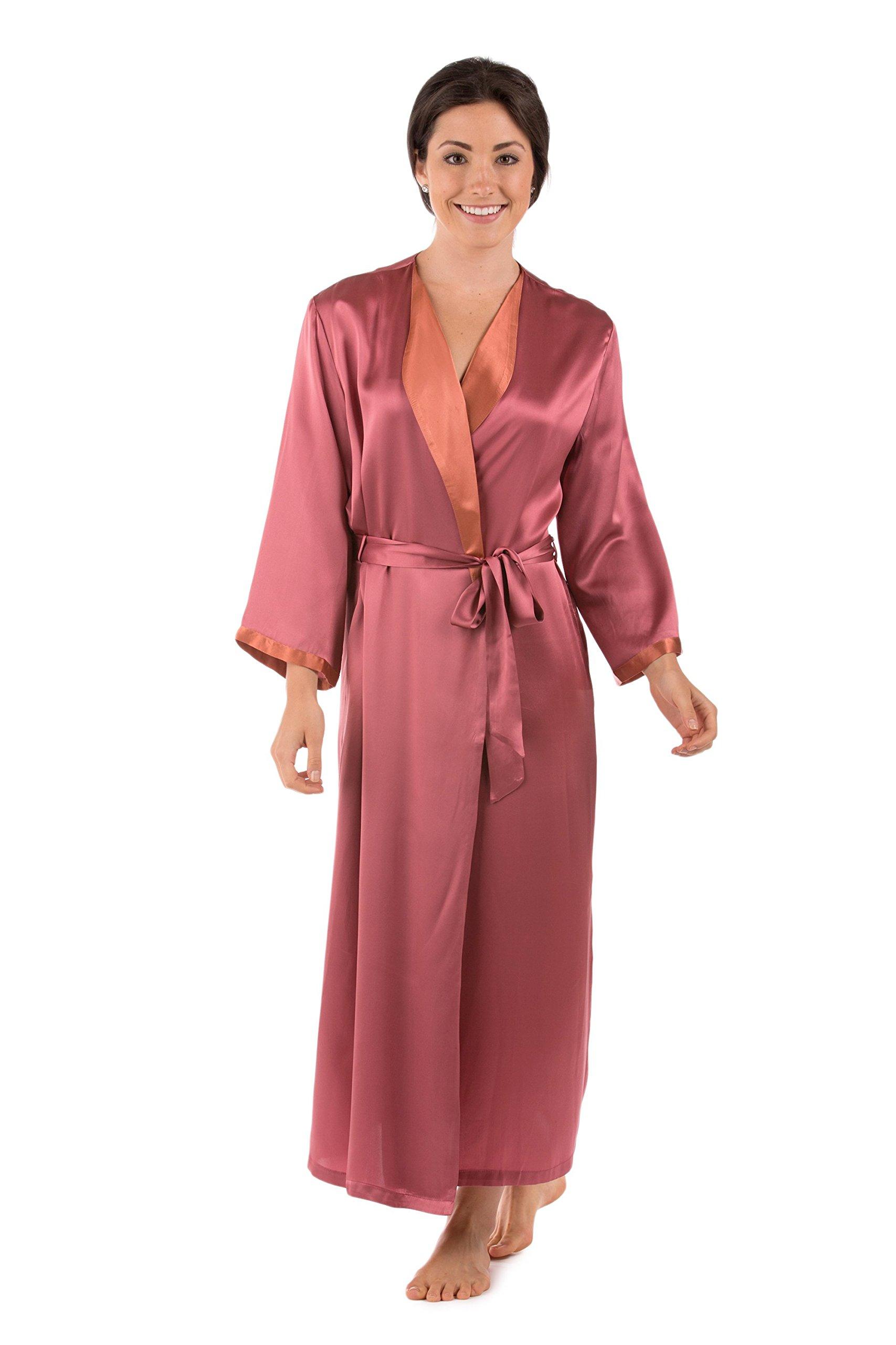 Texeresilk Women S Luxury Long Silk Bathrobe Sleepwear Robe Beautibliss