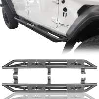 Hooke Road Jeep Gladiator Steps Tube Running Board Nerf Bar Rock Rails for 2020 Jeep Gladiator JT P/U Truck Sliders