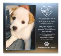 JOEZITON Pet Memorial Gift Personalized 4x6 Picture Frame (Opts) Passed Away for Loss of Dogs or Cats. (P01A)