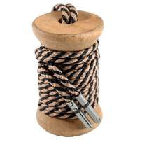 Khaki & Black Striped - Shoelaces for Men by Whiskers Laces