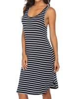 Ekouaer Women Sleepwear Sleeveless Night Shirt Long Racerback Tank Sleep Dress Soft Chemise Nightgown