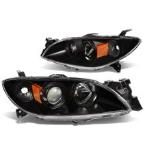 DNA Motoring Black amber HL-OH-MM304-BK-AM Headlight Assembly (Driver & Passenger Side)