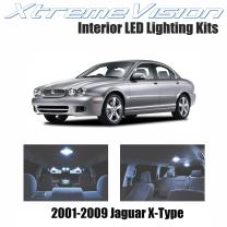 XtremeVision Interior LED for Jaguar X-Type 2001-2009 (6 Pieces) Cool White Interior LED Kit + Installation Tool