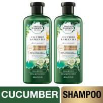 Herbal Essences, Volume Shampoo With Natural Source Ingredients, For Fine Hair, Color Safe, BioRenew Cucumber & Green Tea, 13.5 fl oz, Twin Pack