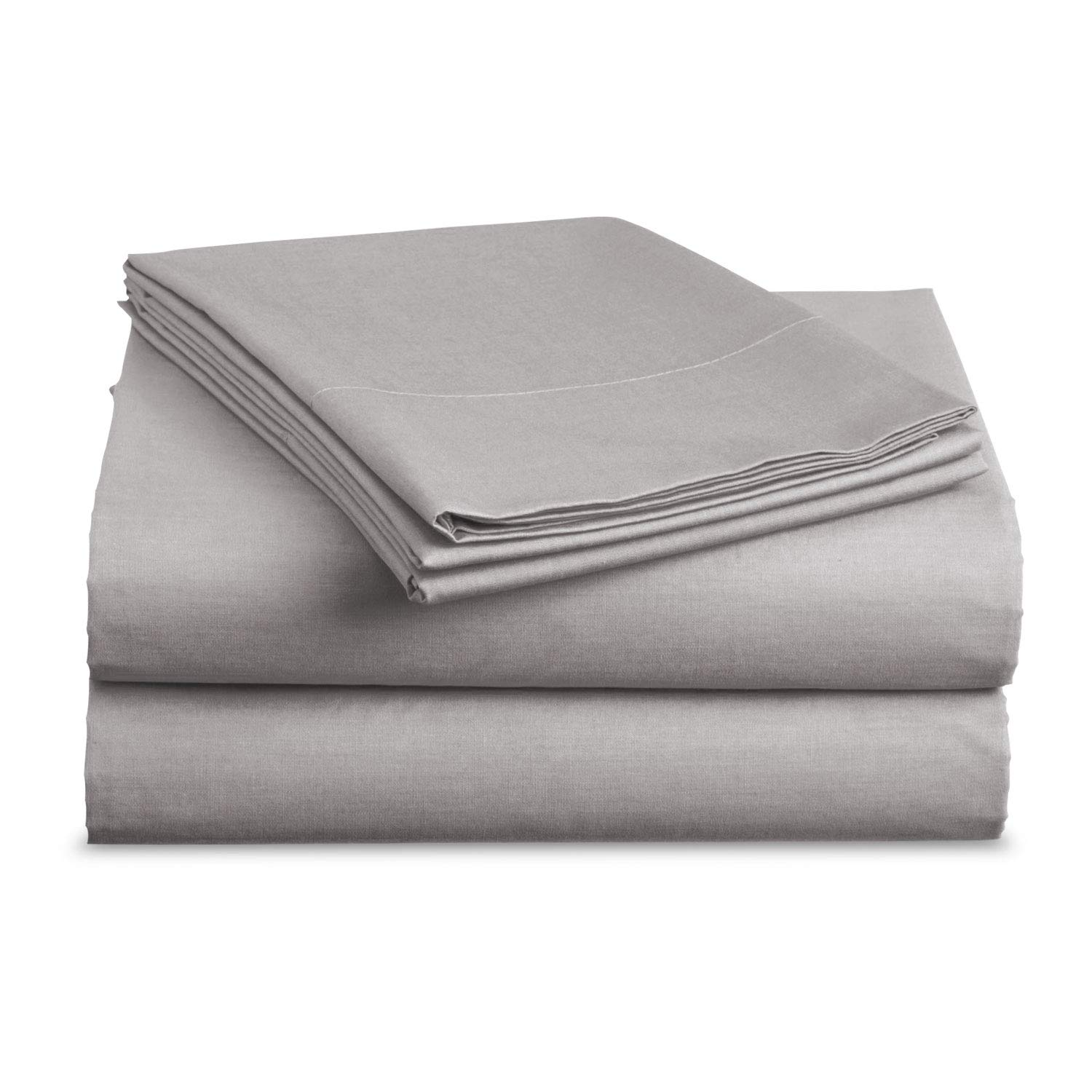 BASIC CHOICE Bed Sheet Set - Brushed Microfiber 2000 Bedding - Wrinkle, Fade, Stain Resistant - Hypoallergenic - 4 Piece (King, Gray)