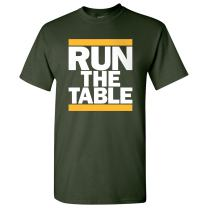 Green Bay, Run The Table Football Mens T-Shirt