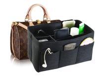 Felt Fabric Handbag Organizer,Insert Purse Organizer 12 Pockets Structure Shaper 4 size