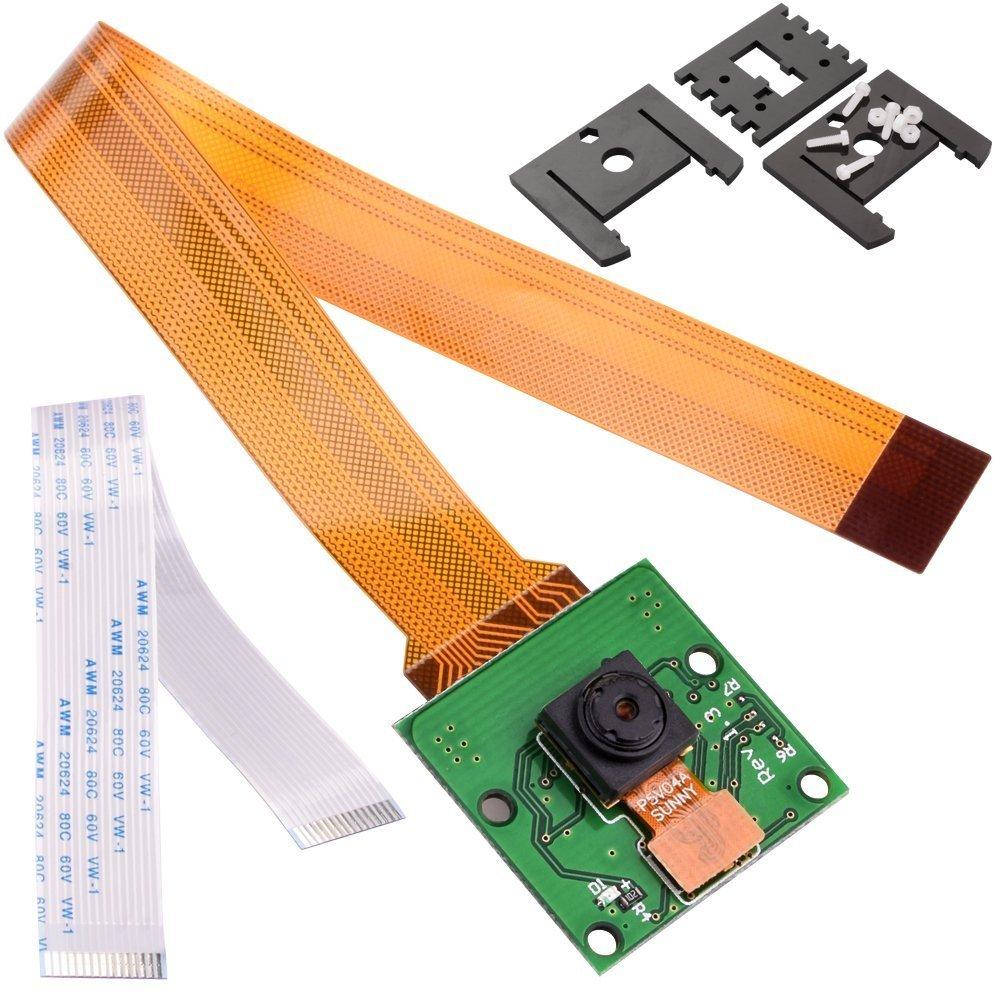 kuman for Raspberry Pi Camera Module 5MP 1080p OV5647 Sensor with 15 Pin FPC Cable + Pi Zero Ribbon Cable 15cm for Raspberry Pi 4 3 2 Model B B+ A+ and Pi Zero