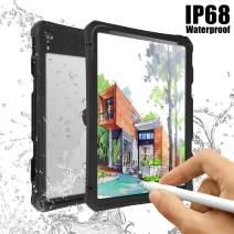 iPad Pro 11 Waterproof Case, IACase IP68 Waterproof iPad Mini 4 Waterproof Case with Lanyard Built-in Screen Protector Rugged Waterproof Shockproof Case for Apple iPad Pro 11