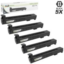 LD Remanufactured Toner Cartridge Replacement for HP 827A CF300A (Black, 5-Pack)