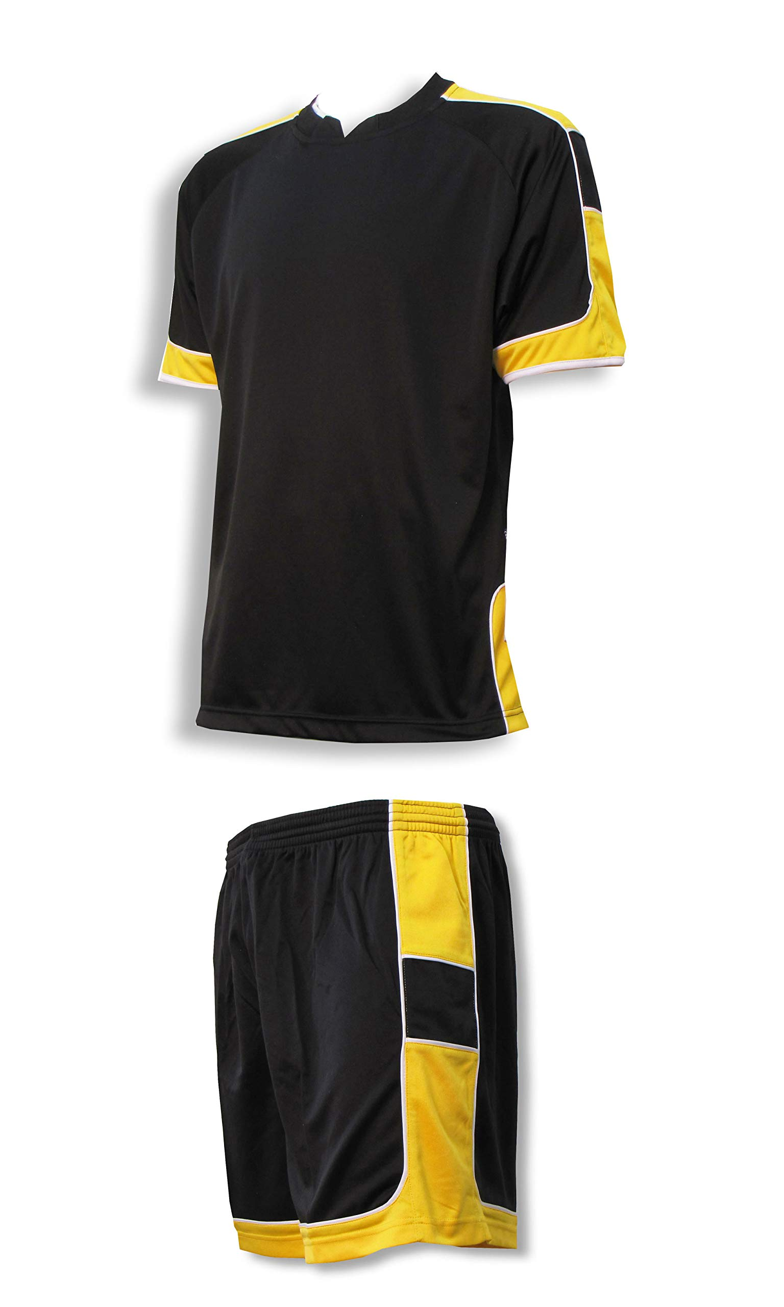 Galaxy soccer goalie jersey-short set customized with your name and number on back