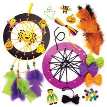 Baker Ross Nightmare Dreamcatcher Craft Kits for Kids Great for Party Activities, Halloween Toys, Favors and More (Pack of 4)