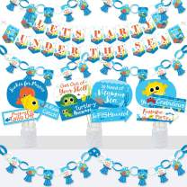 Big Dot of Happiness Under the Sea Critters - Banner and Photo Booth Decorations - Baby Shower or Birthday Party Supplies Kit - Doterrific Bundle