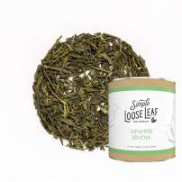 Simple Loose Leaf - Japanese Sencha Tea - Premium Loose Leaf Green Tea (4 oz) - High Caffeine - Classic and Rich - USA Hand Packaged - 60 Cups