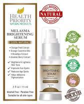 100% Natural & Organic Melasma Treatment for Face. Best Brightening Serum for Lightening & Dark Spot Corrector - Hydroquinone & Kojic Acid Free. Kit, Serum & Cream to Fade and Remove Pigment Problems.