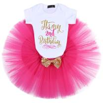 It's My 1st/2nd Birthday Outfit Baby Girl Romper Tutu Skirt Headband Leg Warmers 3/4pcs Flower Princess Clothes Set