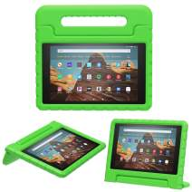 MoKo Case for Fire HD 10 Tablet (5th/7th/9th Generation, 2015/2017/2019 Release), Kids Shock Proof Convertible Handle Light Weight Super Protective Stand Cover Case for Fire HD 10.1 Inch, Green