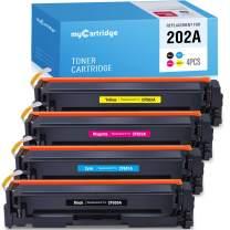 myCartridge Compatible Toner Cartridge Replacement for HP 202A CF500A CF501A CF502A CF503A (1BK 1C 1Y 1M, 4PK) Fit for HP Color Laserjet Pro MFP M281fdw M281cdw M281dw M280 M254