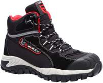 LARNMERN Steel Toe Boots,Mens Work Safety Shoes Outdoor Protection Footwear Industrial and Construction