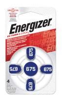Energizer EZ Turn & Lock 675 Hearing Aid Battery, 96-Count