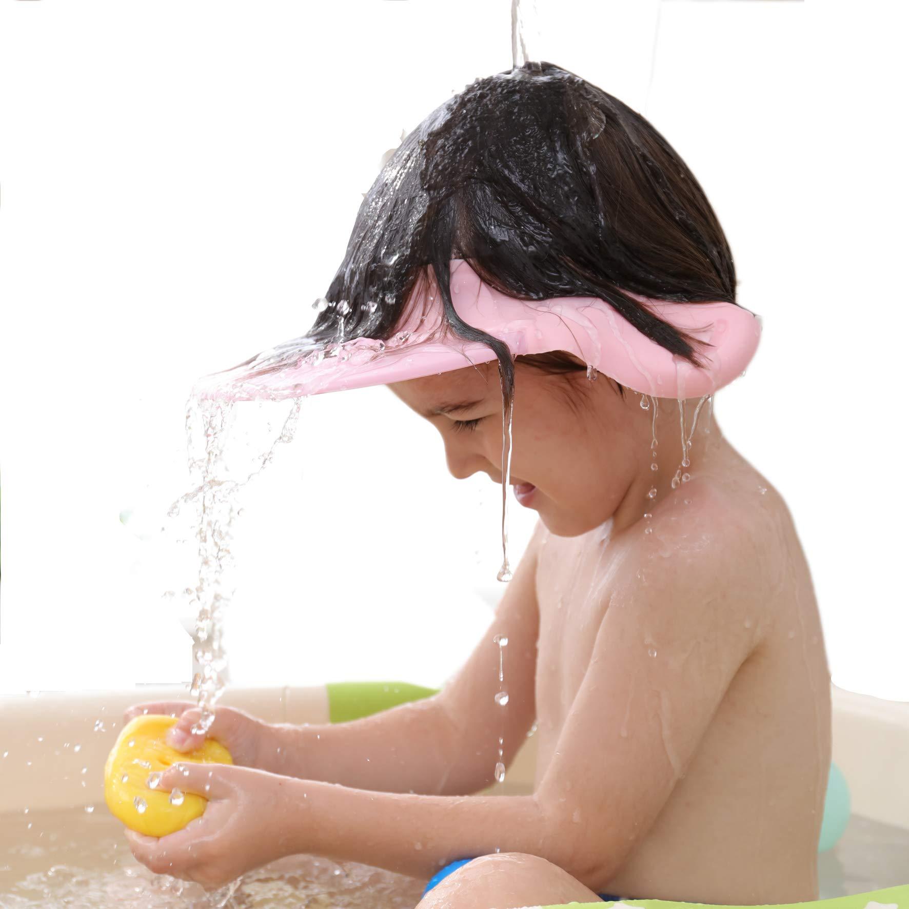 Baby Shower Cap Bath wash Shampoo Shield Visor Bathing tub Head Hair Rinser hat Protection Kids and Toddler