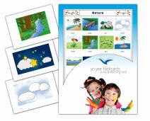 Yo-Yee Flashcards - Nature and Environment Flash Cards - English Vocabulary Picture Cards for Toddlers 2-4 Years, Kids, Children and Adults