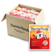 ThermaHands Hand Warmers - Premium Quality (Size: 3.5 inch x 4 inch, Duration: 12+ Hours, Max Temp: 163 F) Air-Activated, Convenient, Safe, Natural, Odorless, Long Lasting Hand Warmer