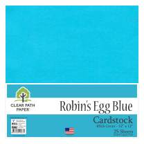 Robins Egg Blue Cardstock - 12 x 12 inch - 65Lb Cover - 25 Sheets