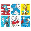 Raymond Geddes Dr Seuss Cat in The Hat Folders 6/Bag Students Themed Folder (70582)