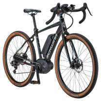 Schwinn Vantage RXe 650b Electric Gravel Adventure Bike, 55cm/Medium Frame, Matte Black/Blue