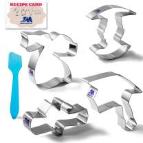 Graduation Cookie Cutter Set with Recipe 4 Piece Set Graduation Cap, Diploma, Graduation Gown, Graduate- Stainless Steel