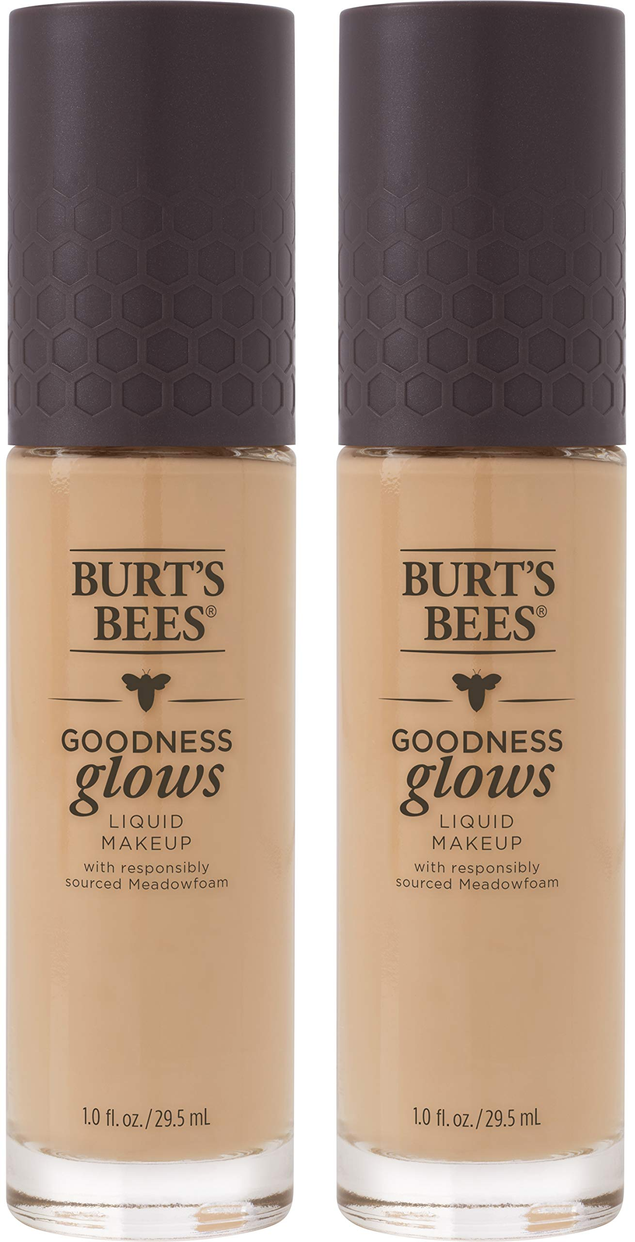 Burts Bees Goodness Glows Liquid Makeup, Natural Beige - 1.0 Ounce (Pack of 2)