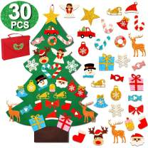 OurWarm 3ft DIY Felt Christmas Tree with Glitter Ornaments, Wall Hanging Christmas Tree Gifts for Toddlers Christmas Decorations